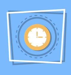 clock icon time watch concept vector image