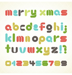 Colorful Retro Christmas Alphabet vector image