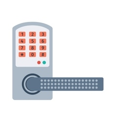 Door lock vector image