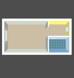 Flat projection apartment colorful vector