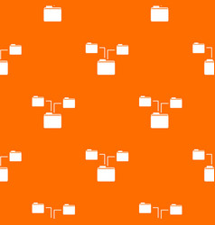 folders structure pattern seamless vector image vector image