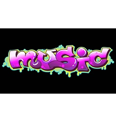 Graffiti music urban art vector