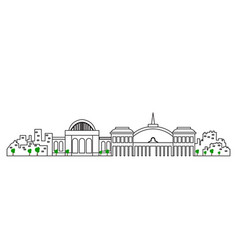 isolated madrid cityscape vector image