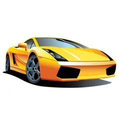 modern sports car vector image vector image