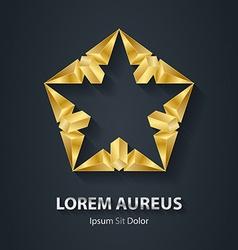 Modern stylish 3D gold logo Golden Design element vector image