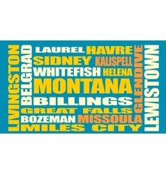 Montana state cities list vector image