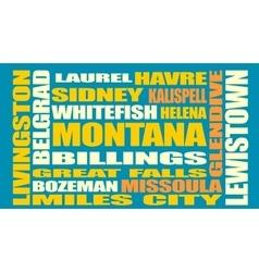 Montana state cities list vector