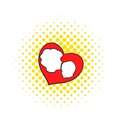 Mother and child inside heart icon comics style vector