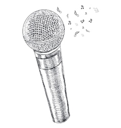 musical microphone on white background vector image