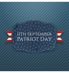 Patriot day emblem with ribbon vector