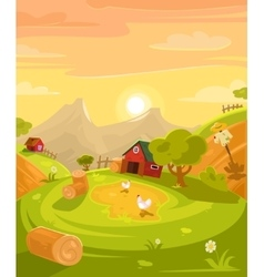retro of the countryside vector image