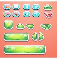 Set glamorous buttons with an ok button buttons vector