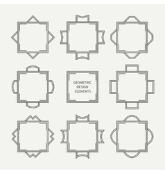 Set of mono line retro frame vector