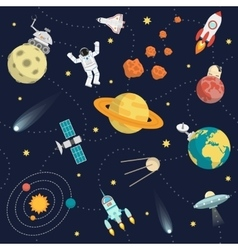 Space Background Flat vector image vector image