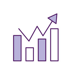 Statistic graphic isolated icon vector