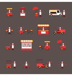 Street food icon flat vector image vector image