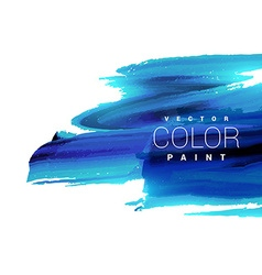Bright blue ink paint stain vector