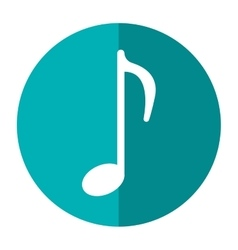 Music note sound melody symbol shadow vector
