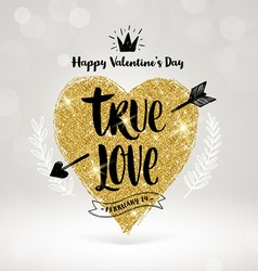 Valentines day hand drawn greeting vector image