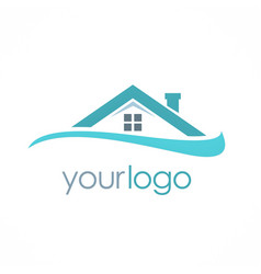 Roof house business logo vector