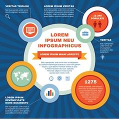 Infographic business concept - scheme vector