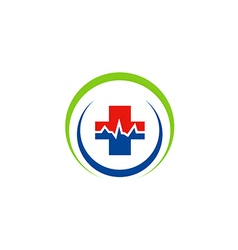 Medic cross sign hospital logo vector