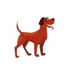 Standing brown dog with a spot on ear vector