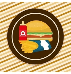 Fast food icons design vector