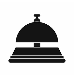 Reception bell black simple icon vector
