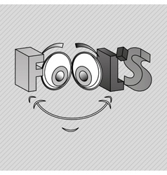 Fools day design vector