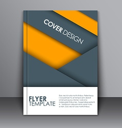 Cover material design style vector