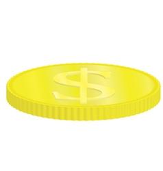 golden dollar coin vector image