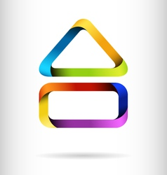 Rainbow building design concept vector image