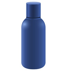 Blue bottle with a cover vector