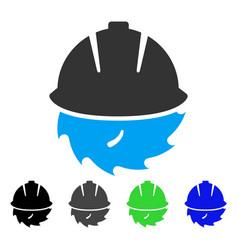 Circular blade safety flat icon vector