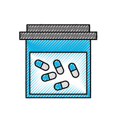 container pills pharmacy medicine healthcare vector image vector image