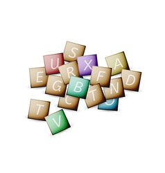 cubes and letters vector image