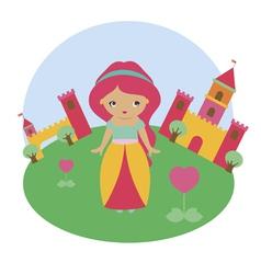 Cute princess character vector