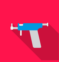 Ear piercing gun icon flate single tattoo icon vector