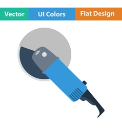 Flat design icon of grinder vector image
