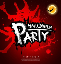 Halloween party blood red background vector