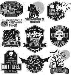 Halloween vintage badges emblems or labels vector