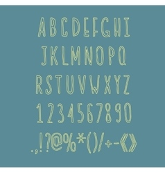 Hand drawin alphabet handwritting abc vector
