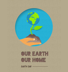 happy earth day world nature quote vector image vector image