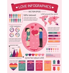Love infographics elements vector