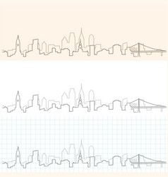 Philadelphia hand drawn skyline vector
