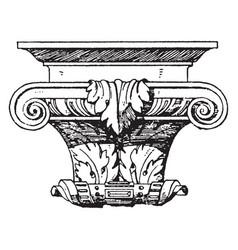 Renaissance console top of moulding vintage vector