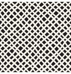 Seamless hand drawn diagonal grid pattern vector