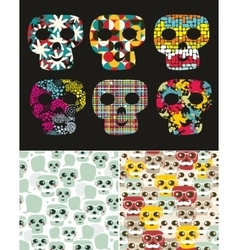 Set of with skull vector image