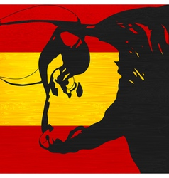 spanish bull vector image vector image
